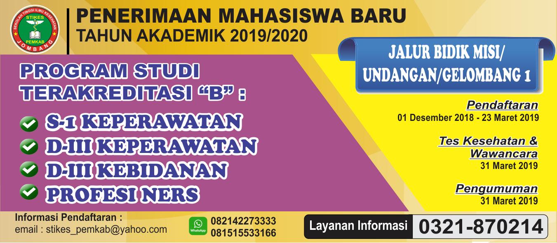 Pendaftaran Mahasiswa Baru Tahun Akademik 2019/2020